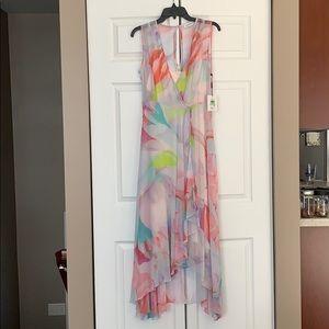 NWT Calvin Klein pink floral maxi dress sz 8